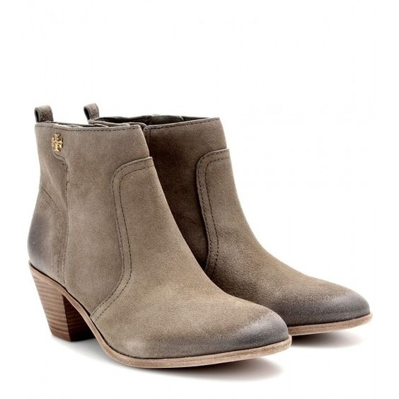 f97f8b9dfb0b65 Tory Burch Leena Suede Ankle Boots ( 264) ❤ liked on Polyvore