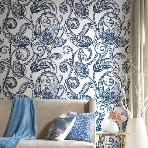 Paisley Power Peel And Stick Wallpaper By York Lelands Wallpaper Peel And Stick Wallpaper Home Decor Removable Wallpaper