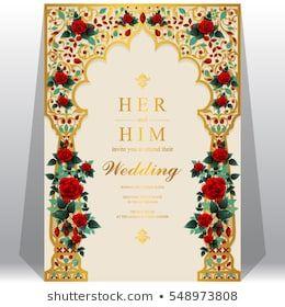 Indian Wedding Invitation Card Design Blank Template Indian Wedding Invitations Indian Wedding Invitation Cards Indian Wedding Invitation Card Design