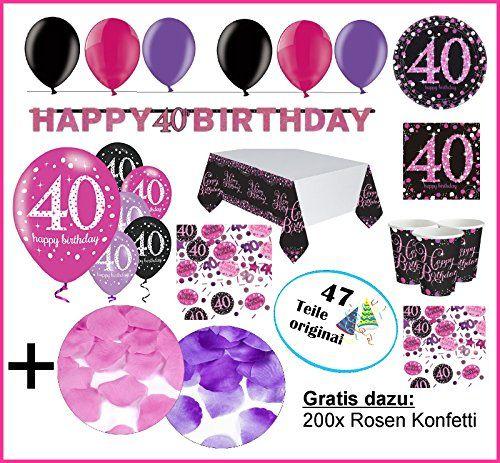Feste Feiern Geburtstagsdeko Zum 40 Geburtstag 47 Teile