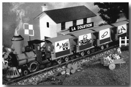 Le Petit Train Rebus qui distrait le téléspectateur lorsqu'il y a des coupures de programmes...Je suis une inconditionnelle...