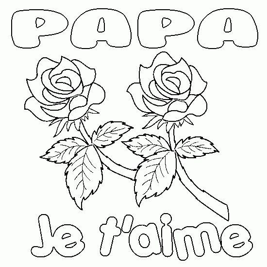 coloriage anniversaire papa à colorier dessin à imprimer