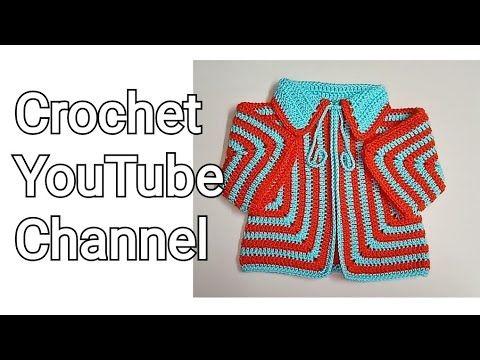 جاكت چيليه كروشية لأي مقاس بطريقة مختلفه جديده قناة كروشيه يوتيوب كروشيه يوتيوب Youtube Crochet Youtube