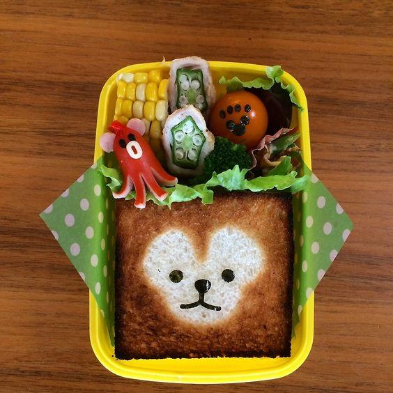 ダッフィーのトーストアート サンドイッチ 作り方あり