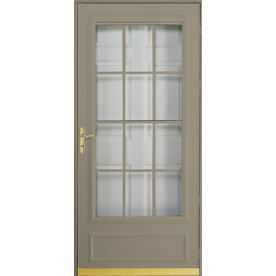 Pella cheyenne putty mid view safety retractable screen for Pella retractable screen door