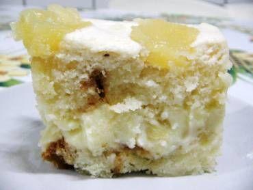 Receita de Sobremesa gelada de abacaxi - Tudo Gostoso