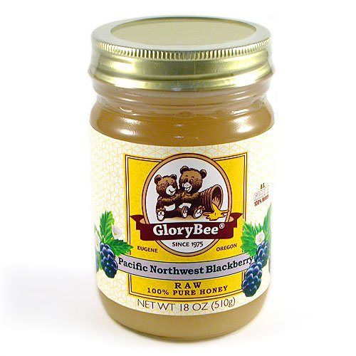 Raw Blackberry Honey: GloryBee 18oz. - http://flowersnhoney.com/raw-blackberry-honey-glorybee-18oz/