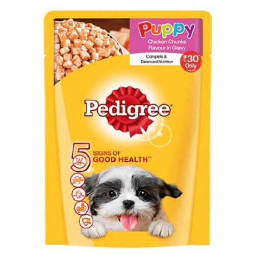 Shop Pedigree Puppy Chicken Chunks Flavor In Gravy 80 Gms Online