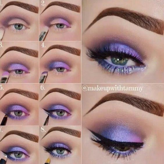 Makeup color lilás