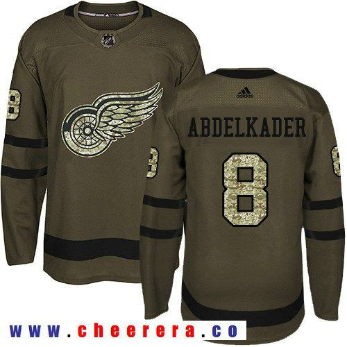 Adidas Red Wings #8 Justin Abdelkader Green Salute to Service Stitched NHL  Jersey | Hockey Jerseys | Pinterest | Nhl jerseys, Red wing and Nhl hockey  ...