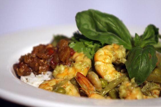 Curry express de langostinos y arroz con coco | Narda Lepes