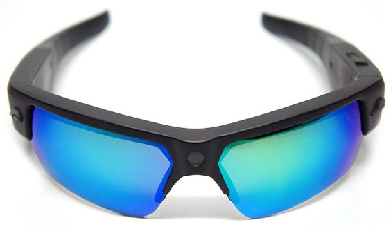 Sunglasses with a built-in 8MP still camera/1080p video camera, good for an hour's use between charges. How much? US$349 starting in April.