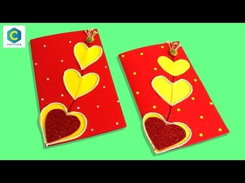 How To Make Handmade Greeting Cards Greeting Cards Latest Design Valentinesday Youtube Greeting Cards Handmade Handmade Greetings Cards