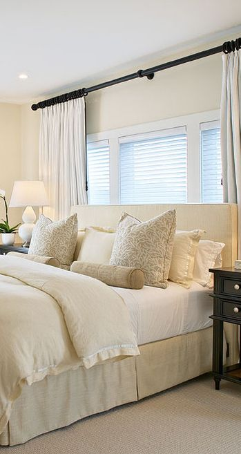 Love The Neutral Shades Contrasting With The Dark Wood