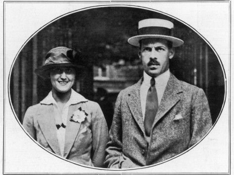 King Alexander of Greece. Ruled fro 1917 until his death in 1920.  In this photo with his wife Aspasia Manos.  Son of Constantine I of Greece and Sophia of Prussia.