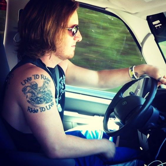 To be trucks and the o 39 jays on pinterest for Tyler hubbard tattoos