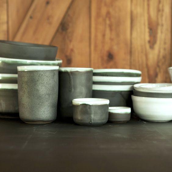 Nordserie anthrazit Glasur Keramik