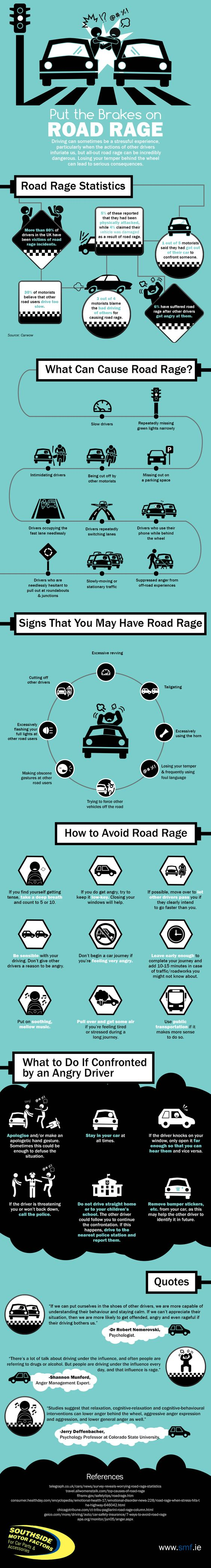 Put the brakes on road rage Infographic