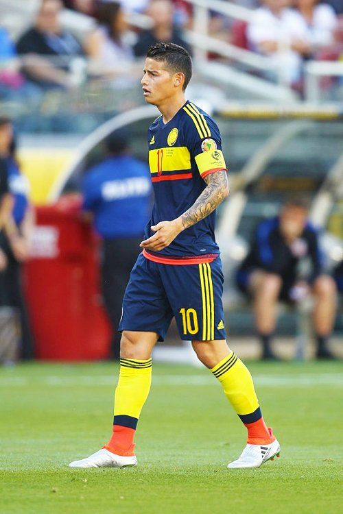 James Rodriguez Celebra El Gol Conseguido Durante Partido