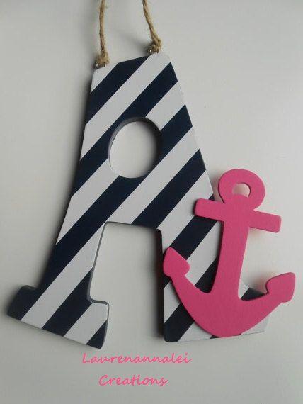 Anchor Decor  Wooden Letter Decor  Anchor Nursery by LaurenAnnaLei, $15.50 @Chandra & Jason