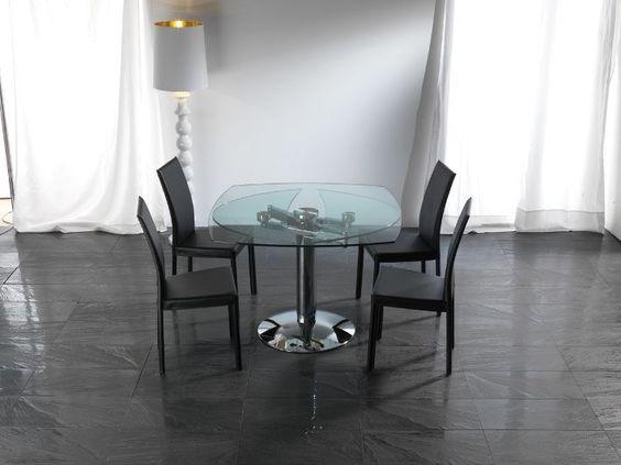 Eurosedie catalogo ~ Tavolo ellisse 656 tavoli cristallo allungabili tavoli un