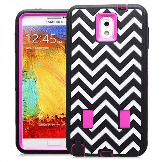 N9000-WAVE-BLK-PINKSAMSUNG GALAXY NOTE 3 CASE, SHOCKPROOF DIRT PROOF HYBRID ARMOR COVER (WAVE PINK) | #cellphonegadgets #mobileaccessories www.kuteckusa.com