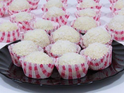 بثلاث اكواب من جوز الهند اعملي اطيب تحلية راقية و بكمية عائلية كرات الثلج Youtube Food Desserts Mini Cheesecake