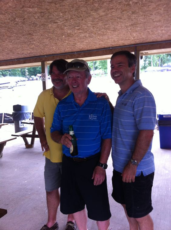 Jon and his Sons Tim and Chris at Jon's surprise party 7-8-13.