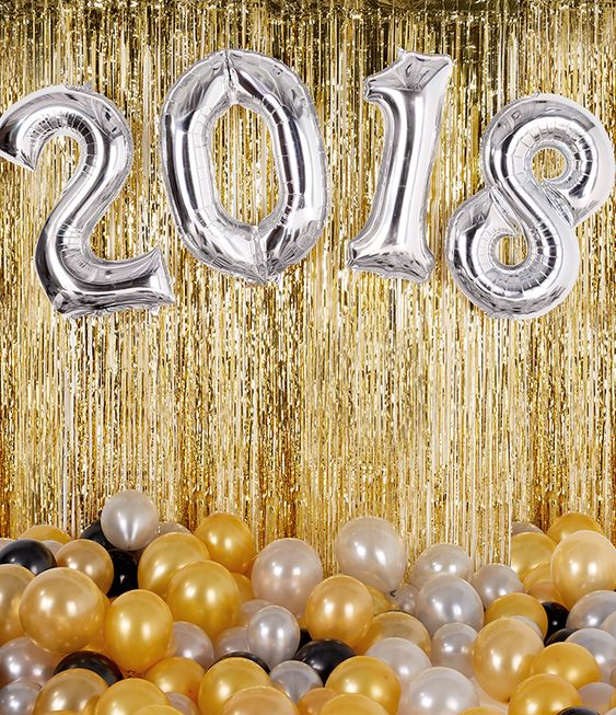 Giant number balloons are a MUST for any New Year's Eve party! Pick them up at partydelights.co.uk or browse more New Year party ideas on our blog.