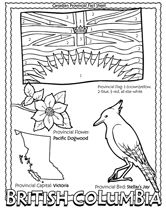 coloring pages for:  Canadian Provinces