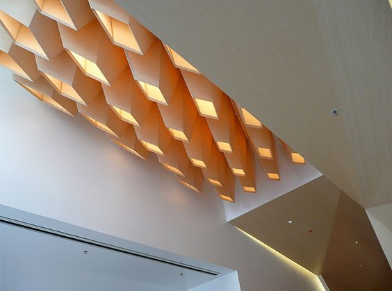 lobby lighting design by IwamotoScott