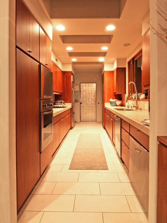 home galley kitchen design and galley kitchens on pinterest On corridor kitchen