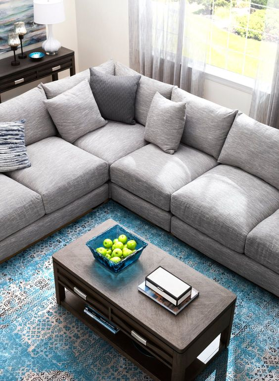 Leighton 3 Pc Sectional Sofa Sectional Sofas Raymour And Flanigan Furniture Mattresses Comfortable Sectional Sofa Grey Sectional Sofa Grey Sectional Couch #raymond #and #flanigan #living #room #set
