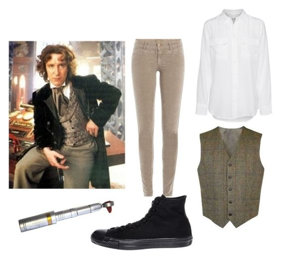 """""""Untitled #189"""" by alien-galaxy ❤ liked on Polyvore featuring Closed, Equipment and Converse"""