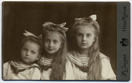 Three sisters, circa 1910.: