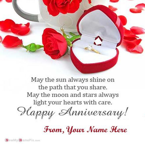 Love Quotes Shayari Anniversary Card Picture On Write Name Anniversary Greeting Cards Anniversary Greetings Wedding Anniversary Wishes
