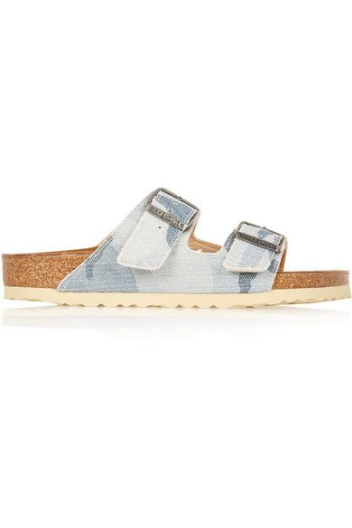 Birkenstock Arizona camouflage-print canvas slides Blush&beyond