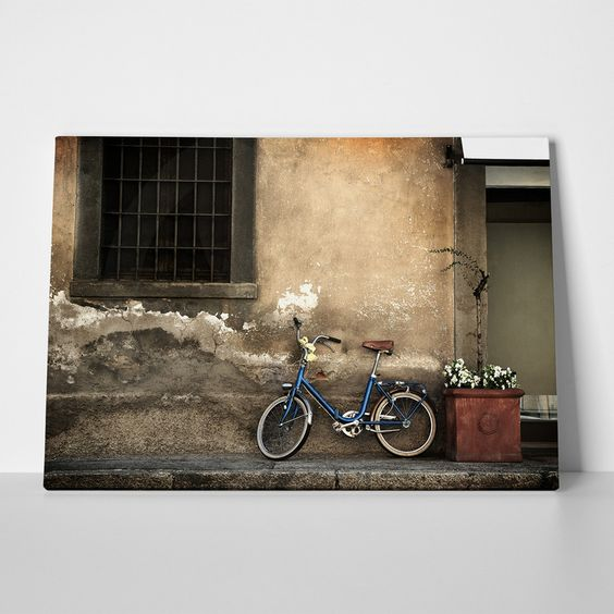 Canvas print OLD STYLE BICYCLE by Sticky!!!