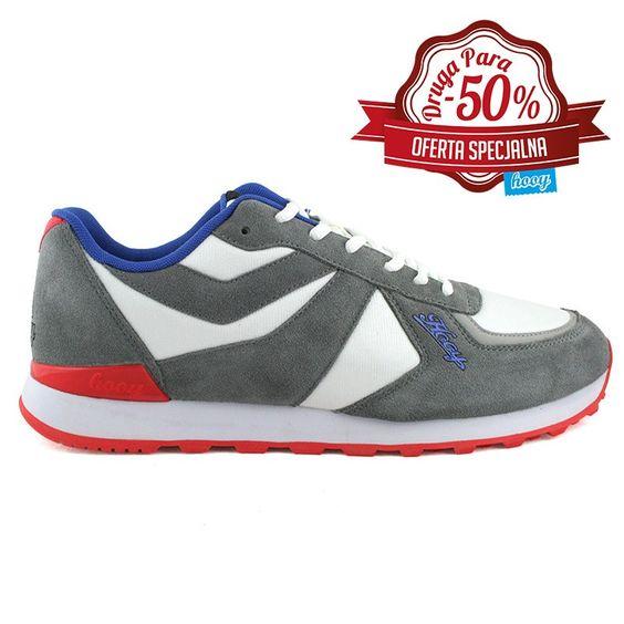 Moje buty, opis producenta: Model pochodzący z kolekcji Wiosna 2015. Sportowe buty o klasycznej linii i nowoczesnym wyglądzie. Doskonałe zarówno dla dziewczyn i chłopaków. Nadają się do codziennego użytku i uprawiania sportu - oczywiście w amatorskim wydaniu. Geometryczne połączenie kolorów: białego, szarego i różowego, sprawia że styl tych butów jest nie do podrobienia. link: http://shop.hooy.eu/glowna/13-buty-sportowe-hooy-spider-201402-004.html
