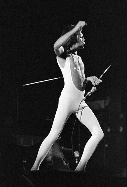 Freddie Mercury of Queen at Omni Coliseum in Atlanta, Georgia, United States, February 21, 1977