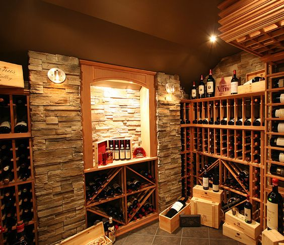 belle exemple de cave vin maison wine room pinterest. Black Bedroom Furniture Sets. Home Design Ideas