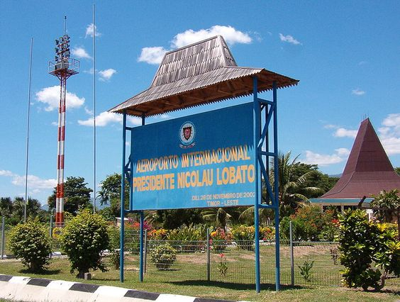 Sign at the entrance to Lobato International Airport in Timor Leste. #Airport #EastTimor Photo credit: www.flickr.com/photos/yuhui-timor/11618578/