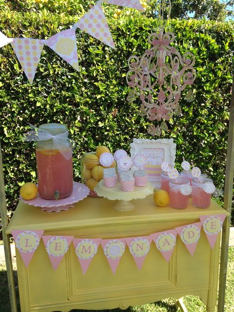 Lemonade stand spring party ideas photos party ideas for Cool lemonade stand ideas