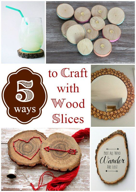 5 ways to craft with wood slices christmas decorations for Wood slice craft ideas