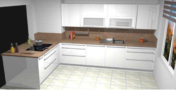 3D #Küchenplaner #Küchenstudio Noack Küchen designed in 3D - nischenplatten für küchen