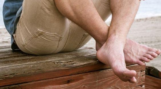 close-up of nice feet on nice guy
