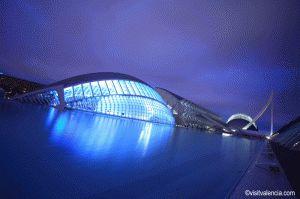 Hemisferic Valencia Nachtaufnahme
