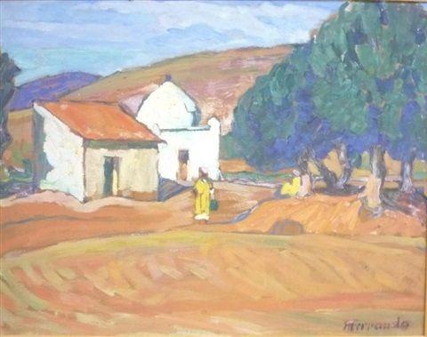 Peinture alg rie paysage orientaliste par augustin - Peinture satinee algerie ...