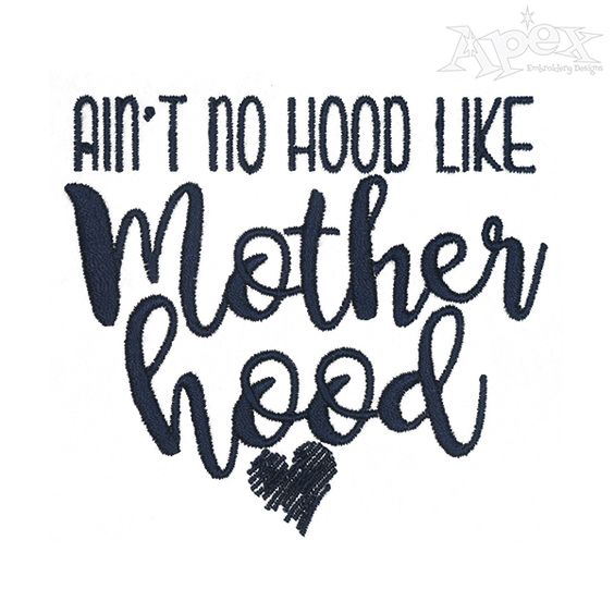Motherhood Embroidery Design: