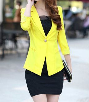 Women's Three Quarter Sleeve Blazer with Lace